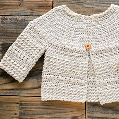 Baby and Kids Free Crochet Sweater Pattern : Close up of sleeve of crochet sweater pattern. Baby Sweater Patterns, Crochet Cardigan Pattern, Crochet Jacket, Crochet Patterns, Crochet Ideas, Sewing Patterns, Crochet Baby Sweaters, Crochet Baby Clothes, Baby Knitting