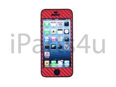 iPhone 5 Carbon Skin Rot iPad Zubehör, iPhone Zubehör und iPod Zubehör    Gut und Billig