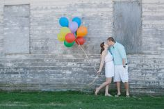 Up-themed Engagement Shoot with Colorful balloons by Sara Marie Photography | Two Bright Lights :: Blog