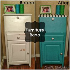 Two It Yourself: Teal Furniture Makeover {Guest Post from Craft Dic. Teal Furniture, Kitchen Furniture, Furniture Makeover, Painted Furniture, Furniture Refinishing, Furniture Ideas, Teal Dresser, Before After Furniture, Pallet Wood Christmas