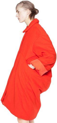 Acne Sima Wool Orange Coat.