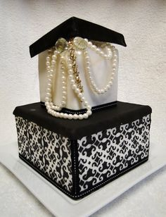 Gift Box - A gorgeous cake for a classy woman! Description from pinterest.com. I searched for this on bing.com/images