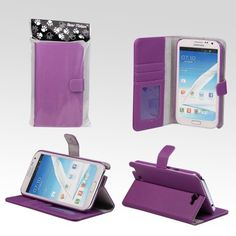 Bear Motion Premium Folio Case for Samsung Galaxy Note 2 Note II N7100 with Snap Button Closure (no magnet anywhere) - (Purple) Item# 3225 - Click image twice for more info - See a larger selection of Cellphone Accessories at http://www.zbestsellers.com/level.php?node=130&title=cell-phone-accessories - technology, gadget , gadget accessories, cellphone accessories, gift ideas.