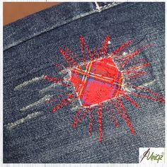 Deine Jeans hat ein Loch? Einen Flecken? Oder ist einfach nur langweilig? Dem kann abgeholfen werden. Wenn man den Makel nicht kaschieren oder unsichtbar machen kann, wie es z.B. bei dieser Art Jea…