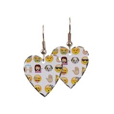 emojis Earring ($23) ❤ liked on Polyvore featuring jewelry, earrings, pray, hook earrings, charm earrings, surgical steel jewelry, surgical steel earrings and polish jewelry
