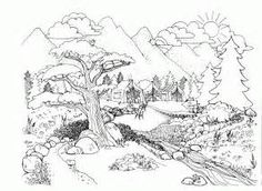 Landscape Coloring Pages For Adults