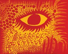 """Yayoi Kusama,""""I Want to Live Honestly, Like the Eye in the Picture"""", Synthetic Polymer on Canvas, 2009"""