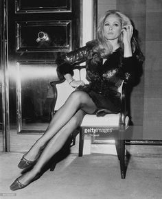 Photo d'actualité : Swiss actress Ursula Andress at a party at the...