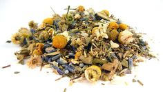 """Effective on chronic insomnia, """"Verrry Sleeepy"""" loose leaf tea is a powerful sleep aid containing the following five organic herbs: green African rooibos, chamomile, lavender, passionflower, and valerian root; each known for their relaxation and sleep inducing properties. One cup per day, see site for full description. 