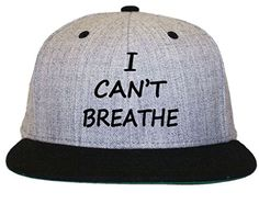 7c284a03b5f I Can t Breathe NYPD Protest Police Flat Bill Snapback Hat Cap Snapback Hats