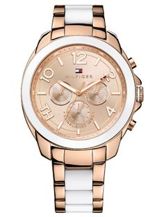 c8f991e4e9d Tommy Hilfiger Women s White and Rose Gold-Tone Stainless Steel Bracelet  Watch 1781393 Jewelry   Watches - Watches - Macy s