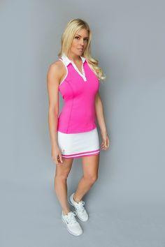 FlirTee Golf Striped Hem Skirt - Available in 3 Colors!