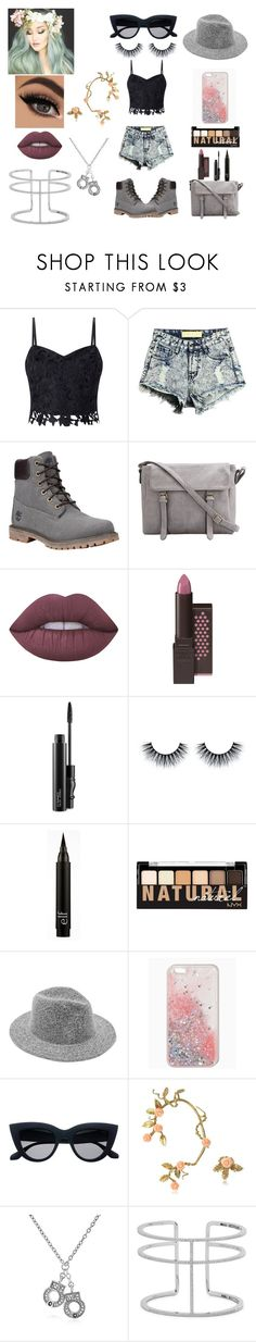 """""""Summer Time Sadness"""" by charlese-b ❤ liked on Polyvore featuring Lipsy, Timberland, Lime Crime, MAC Cosmetics, NYX, Bernard Delettrez, Bling Jewelry, APM Monaco and summerfashion"""