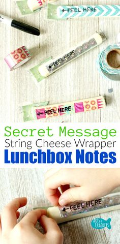 [ad] Make lunch time very special with Secret Message String Cheese Wrapper Lunchbox Notes, perfect for Back to School lunches and after school snacks.