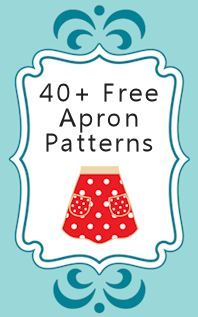 40 free apron patterns plus free sewing tutorials for handmade aprons. Club Couture, Diy Couture, Sewing Hacks, Sewing Tutorials, Sewing Patterns, Retro Apron Patterns, Dress Patterns, Sewing Ideas, Sewing Tips