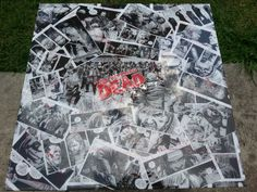 The Walking Dead Comic Collage Table by SuperheroEssentials, $150.00