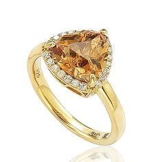 Suzy Levian Goldplated Sterling Silver Brown Cubic Zirconia Ring (Size 6.5), Women's, Yellow (checkered)