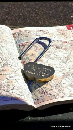 """LoveLocks travel with you. """"lock Your Love"""" wherever you go. Love Lock, Easy To Love, Love Symbols, Loving Someone, Romantic Travel, Custom Engraving, Awesome, Liking Someone, Romantic Getaways"""
