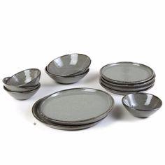 sharon alpren - celadon dinner plate