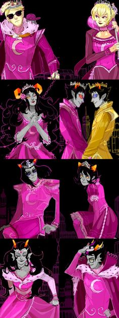 The Derse Dreamers. Along with Sollux's other dream self. I'm a Derse dreamer…