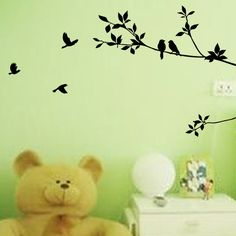 Trees 57 * 100 Large Bedroom Background Wall Stickers/ Adhesive Home Wall Stickers Mural Art Home Decoration  QL-054