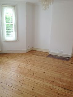 sanded original floorboards - clear satin floor varnish