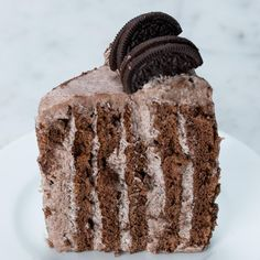 Vertical Layered Cookies & Cream Cake Recipe by Tasty