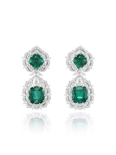 Chopard Earrings from the Green Carpet Collection in 18ct white Fairmined gold…