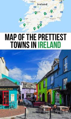 10 Prettiest Small Towns In Ireland Map To Find Them map of the prettiest towns in Ireland ireland travel tips best places to visit in Ireland ireland travel tips th. London Travel Guide, Ireland Travel Guide, Ireland Map, Galway Ireland, Ireland Pubs, Belfast Ireland, Cool Places To Visit, Places To Travel, Vacation Places