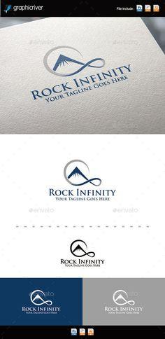Rock Infinity Logo Template PSD, Vector EPS, AI. Download here: http://graphicriver.net/item/rock-infinity-logo/11783850?ref=ksioks