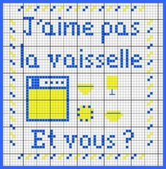 J'aime pas la vaiselle. Et vous? (I do not like the dishes. And you?) - Les chroniques de Frimousse