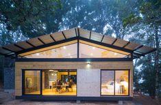 Diseño de casa de campo de dos dormitorios, sencilla estructura se integra a la naturaleza