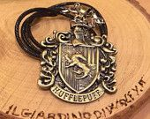 Harry Potter - Hogwarts Houses Necklace HUFFLEPUFF, (also available Hogwarts, Gryffindor, Slytherin, Ravenclaw)  | NOW Accepting Gifts!