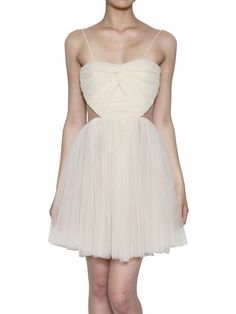 MARIA LUCIA HOHAN - DRAPED FRONT TULLE DRESS - LUISAVIAROMA - LUXURY SHOPPING WORLDWIDE SHIPPING - FLORENCE