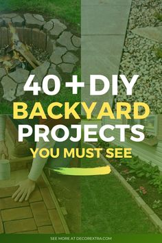 DIY Backyard Ideas! Find out our list of backyard projects to help you transform your garden into a beautiful place on a budget! #diy #backyard #backyardideas Fire Pit Designs, Diy Garden Projects, Fire Pit Backyard, Do It Yourself Projects, Diy Patio, Summer Diy, Cool Diy, Amazing Gardens, Backyard Ideas