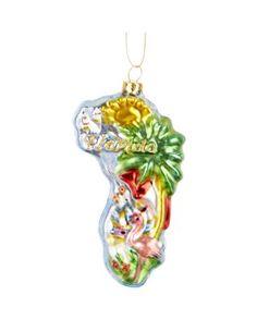 Brighten the Season Glass Florida Ornament