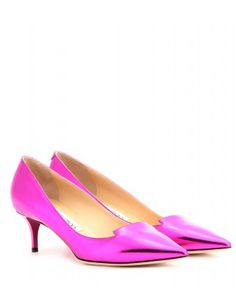 Allure metallic-leather kitten-heel pumps - Jimmy Choo