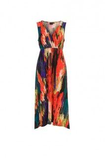 Scarlett Hi Low Maxi Dress  #summer #summerdress #tribalsportswear #maxidress #dress #fashion #style #summerstyle #scarlet #orange #colorful