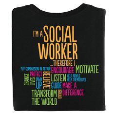 I'm A Social Worker Positive T-Shirt - Personalization Available Social Worker Quotes, Social Workers, Work Shirts, Tee Shirts, Inspirational Classroom Posters, Work Quotes, Work Inspiration, Nurse Art, About Me Blog