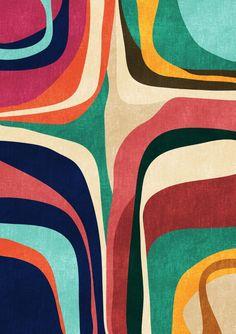 Impossible contour map Art Print by Picomodi