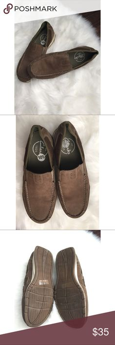 Clarks Men's Slip-on Shoes Size 10 1/2. Clarks slip-on shoes. My husband tried them on but never worn them. Clarks Shoes Loafers & Slip-Ons