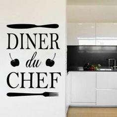 bienvenue dans la cuisine du chef stickers muraux décoration de la