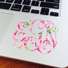 Monogrammed Vinyl Lilly Pulitzer Inspired Decal by WPGMonograms, $6.00