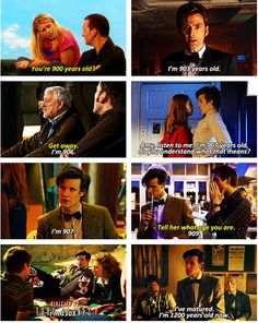 The Doctor's age - that moment when you realize it's been 300 years since he lost Rose Tyler... :'( <------- WHY WOULD YOU WRITE THAT!?!?!?! :(