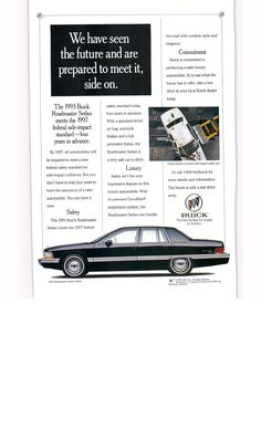 1993 Buick Roadmaster sedan - National Geographic August 1993 Buick Roadmaster, National Geographic, Automobile, Vehicle, Wheels, Advertising, Garage, Cars, Future