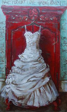 Painting by Maria  great idea for one's wedding dress