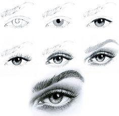 ART :: Eye Illustration Tutorial - by Unknown Artist