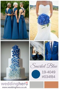 Snorkel Blue Colour Trends Let us plan your wedding online for free with a real expert planner @ www.weddinghero.co.uk