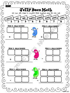 Jelly Bean Math (yummy work sheet)
