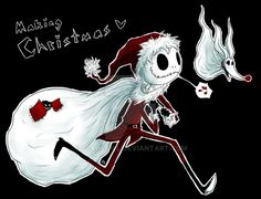 I had a lack of inspiration a while ago and my IRL friend on Facebook asked me to draw a Nightmare Before Christmas picture. I liked how the sketch came out, so I pimped it up a bit. Coloring style...